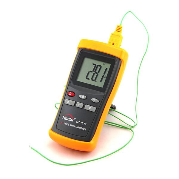 Termómetro digital digital LCD Termómetro -200 ~ 1370C K-Type Pyrometer con sensor de temperatura Sonda DT1311 en caja de venta al por menor