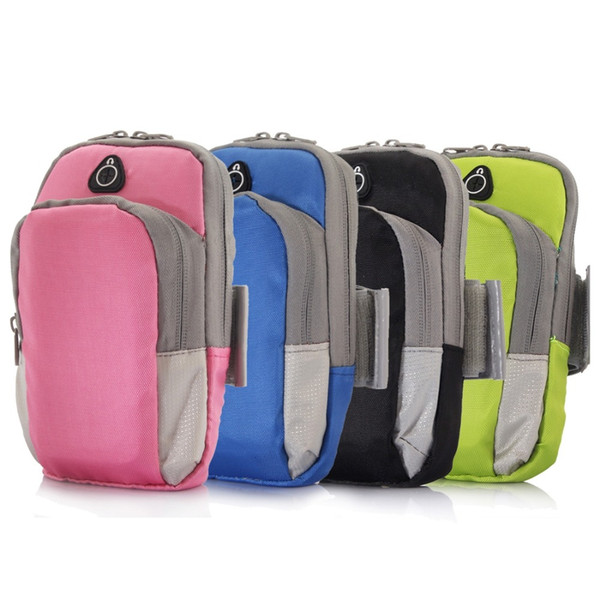 Universal Zipper Double Bag Sports Running Armband for  X for Huawei Phone 17.5x10x3cm size