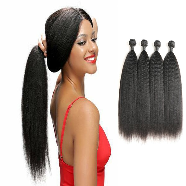 Estensioni dei capelli umani vergini brasiliane delle estensioni dei capelli umani di Laflare Hair Company 4 bundles Trasporto libero sulla vendita