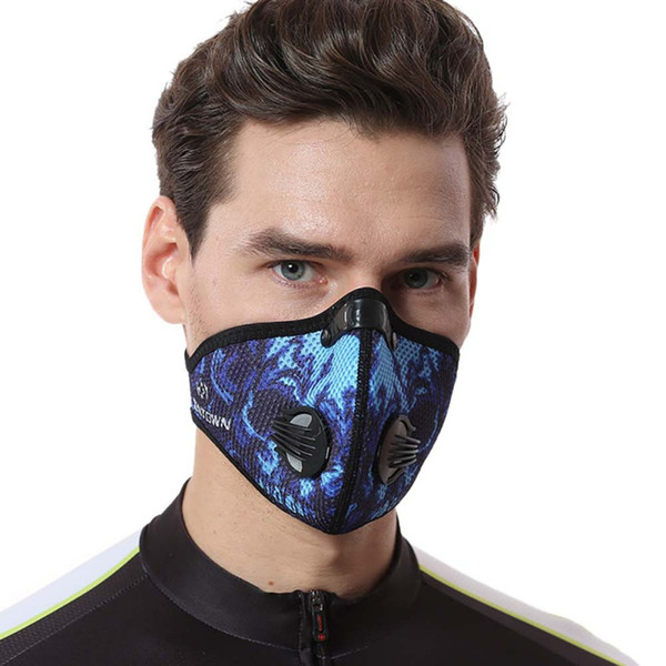 Équipement d'équitation en plein air masque maille respirant charbon actif antipoussière sports de plein air en cours d'exécution masque