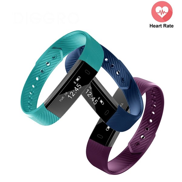 ID115HR Smartband Sport Heart Rate monitor Smart Bracelet Fitness Tracker Sleep Monitor ID115 HR Band Clock Smartband For IOS Android Device