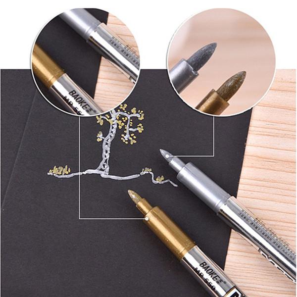 Gold Silber Metallic Farbe Stift DIY Papier Tag Fotoalbum Scrapbooking Für Party Geburtstag Hochzeit Dekoration Unterzeichnung Stift