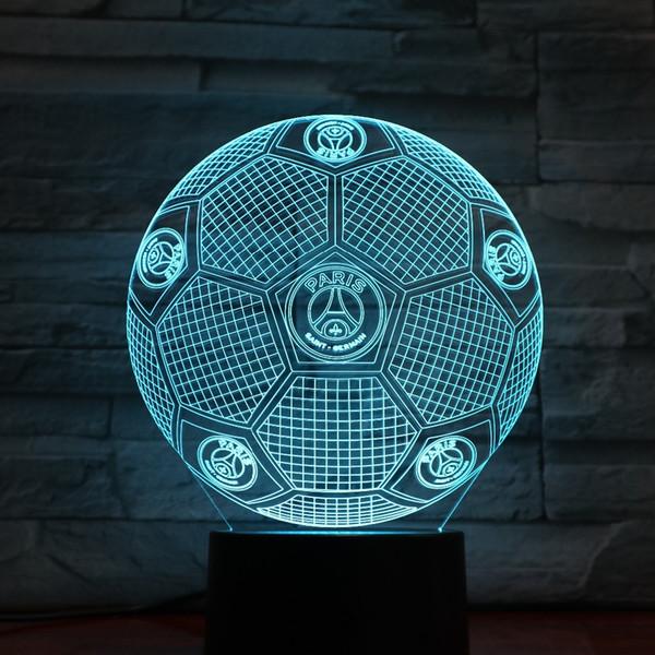 France Football Paris Lampe 3D Lampe 7 Changement de couleurs Toucher Capteur Table Lampe de bureau Ambiance Chambre Lampes De Chevet