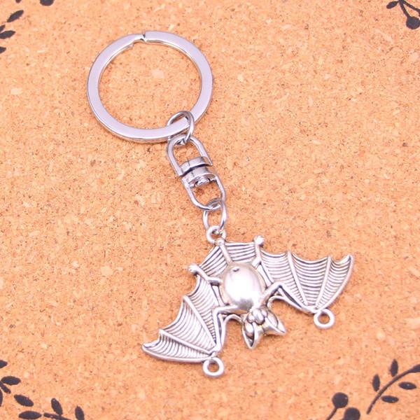 New Design bat vampire dracula connector Keychain Car Key Chain Key Ring silver pendant For Man Women Gift