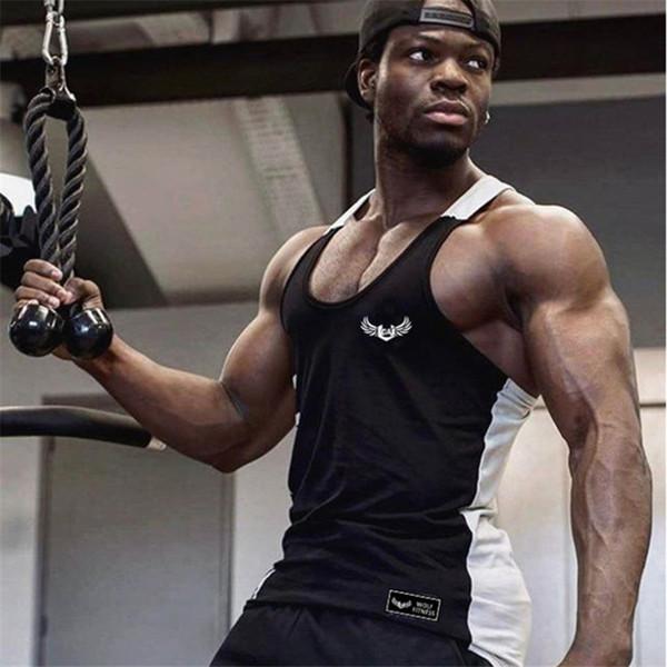 Yeni Erkekler Vücut Zayıflama Sıkıştırma Kolsuz Sıkı T Gömlek Spor Nem Esneklik Egzersiz Yelek Kas Tank Top