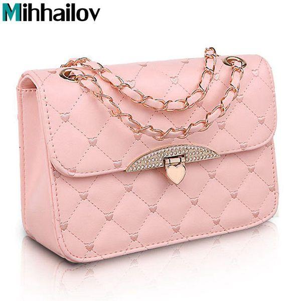 Hot evening bag Peach Heart bag women leather handbags Chain Shoulder Bag women messenger bags fashion women's clutches B70-286 D18102906