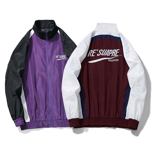 YouthCodes Rib Sleeve Jackets Men Brand Fashion Casual Gothic Patchwork Windbreaker Navy Army Skateboard Justin Bieber Coats Men