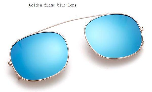 golden frame blue lens