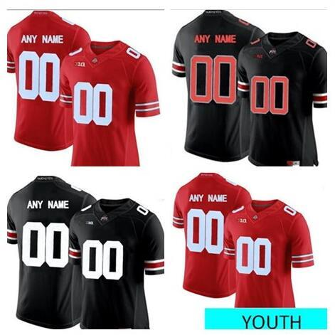 Custom Mens Youth Ohio State Buckeyes College Football white red black Personalized Kids Stitched Any Name Number 16 Barrett Jerseys S -3XL