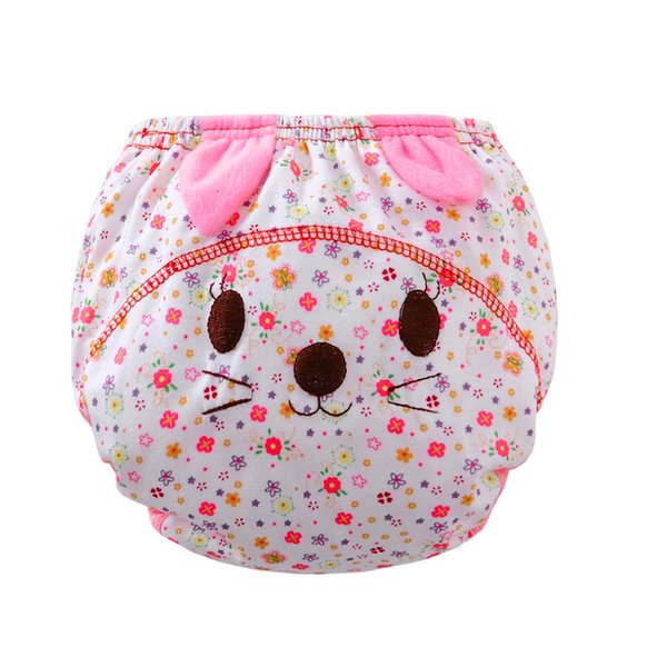 Hot selling Infant kids cartoon cotton Nappies for 6-24M Baby Ruffle cute Panties Briefs cloth Diaper Cover Pants #JD loviny