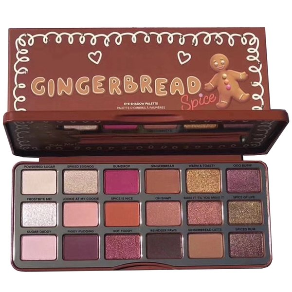 Newest Makeup Palette Face Gingerbread Eye shadow palette 18colors Eyeshadow Palette Holiday Collection DHL shipping