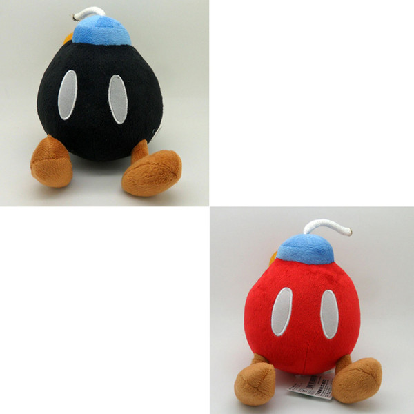 "Top New 2 Styles 5"" 13CM Super Mario Bros BOB-OMB BOMB Plush Doll Anime Cartoon Dolls Gifts Stuffed Soft Toys"