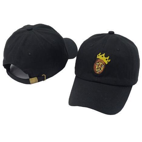 2 colores negro Biggie Vtg estilo gorra de béisbol bordada ajustable Strapback sombreros de dibujos animados bola Caps CCA9225 5 unids