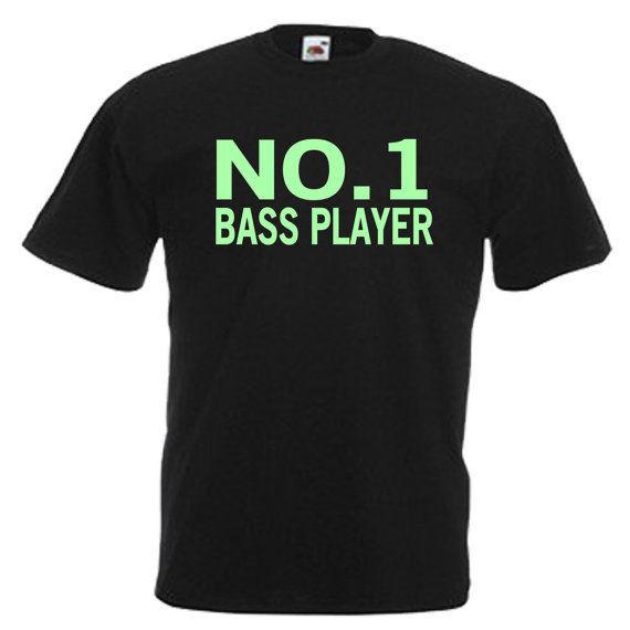 Bass Player Funny Glow In The Dark Mens Adults T Shirt