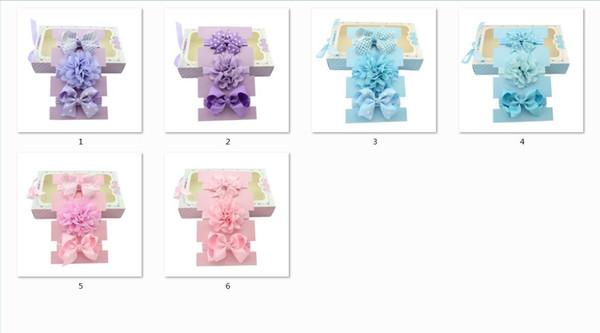 6pcs Polka Dot Bows Headband Lace Flower Headband Waves Bow Knot Elasticity Headband Girls Hair Accessory LH620