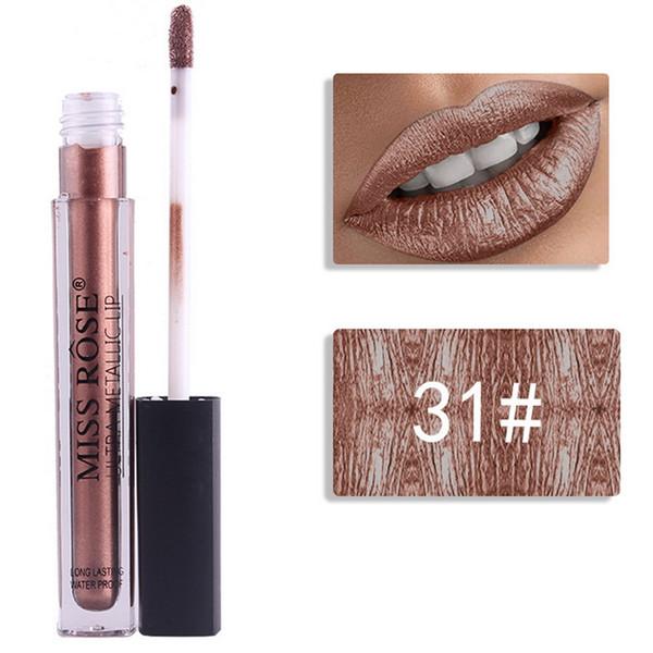 F.Lashes 12 Colors Metallic Liquid Lipstick Lip Tint Long Tube Matte Pigment Lip Gloss Brand Cosmetics Shimmer Lipgloss Make Up