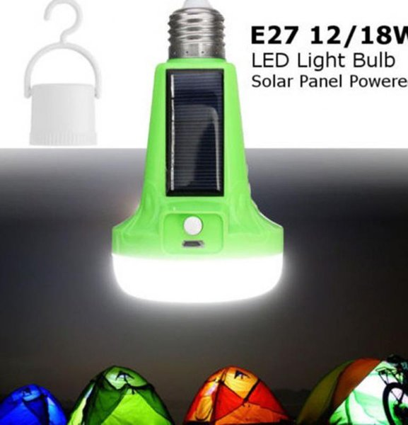 Umlight1688 12W 18W 110V 220V Alimenté par énergie solaire LED lampe de poche tente ampoule rechargeable lampe de secours pour extérieur intérieur multifonctionnel