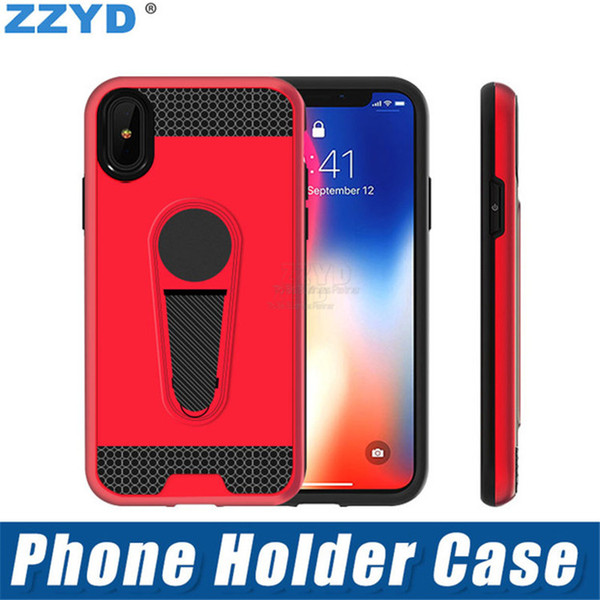 ZZYD Hybrid combo anti shock TPU+PC magnetic kickstand holder cell phone case shockproof back cover for samsung j2 pro a8 2018