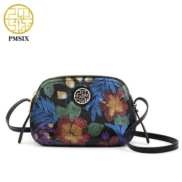 Pmsix donne morbide borse a tracolla in vera pelle vintage vacchetta reale donne di marca piccola borsa a tracolla classico ragazza regalo P210022