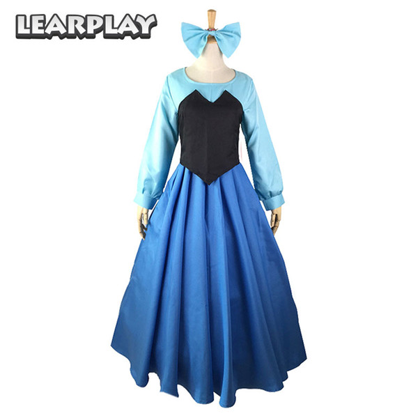 ress cosplay The Little Mermaid Ariel Cosplay Costumes Princess Dress For Women Adult Sexy Gown Fancy Halloween Party Dance Performance W...