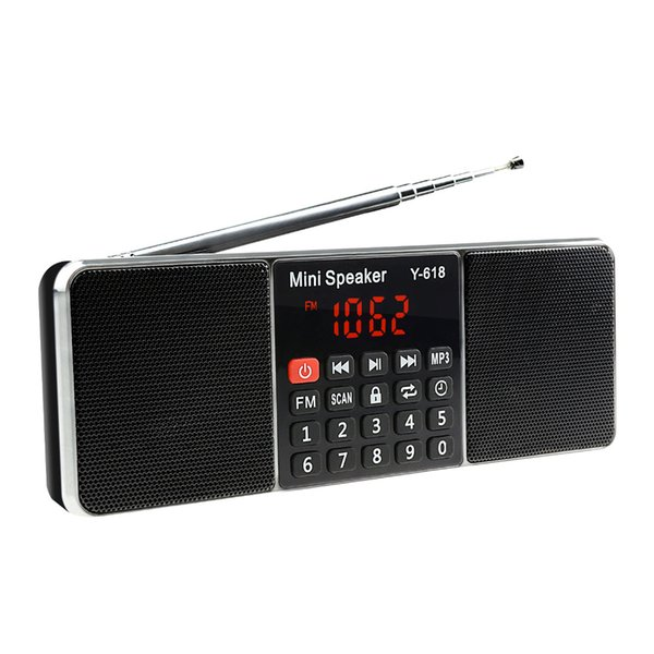 Lefon Digital FM Radio Media Speaker MP3 Music Player Support TF Card USB Drive with LED Screen Display and Time Shutdown