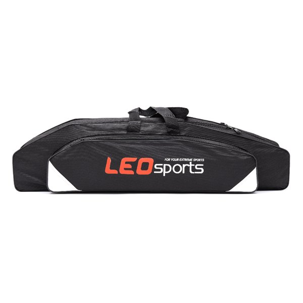 Cheap Bags LEO Double-layer Rod Bag Fishing Bags Reel Tackle Carrier 80cm Portable Storage Case Fishing Accessories Organizer Bag