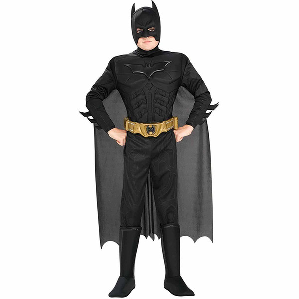 New Arrival Kids Deluxe Muscle Dark Knight Batman Child Halloween Party Fancy Dress Boys Superhero Carnival Cosplay Costume Y1891202
