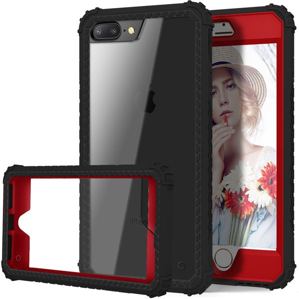 Hybrid phone cases Shockproof Full Body cellphone case With TPU PC 2 Layer Impact Protection designer phone case OPP Bag