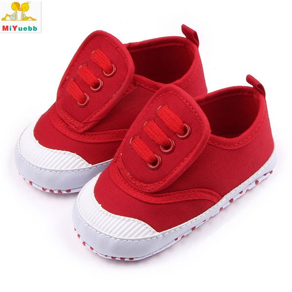 New 1 Pair Children Canvas Sticker Casual Shoes Anti-skid Baby Soft Bottom Shoes 3 Size 5 Color Baby Prewalking