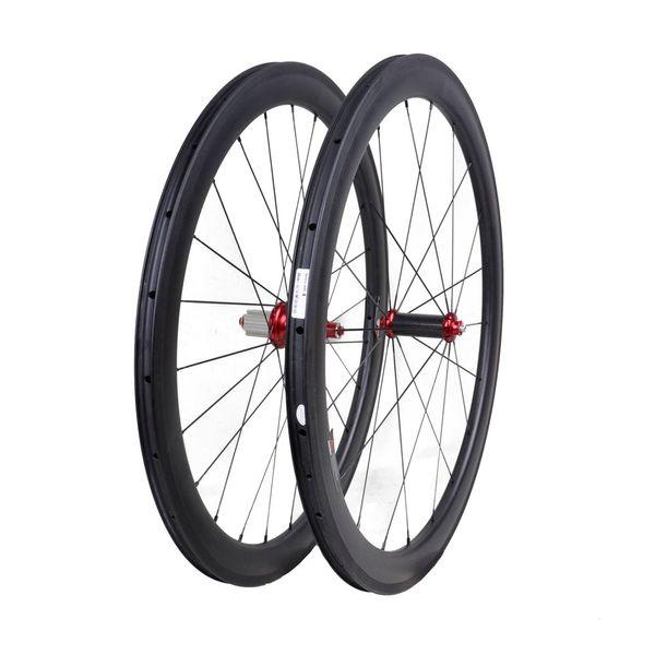 700C 24mm 38mm 50mm 60mm 88mm ancho 23mm ruedas de carbono de bicicleta de carretera Freno de basalto 700C ruedas de bicicleta de carretera