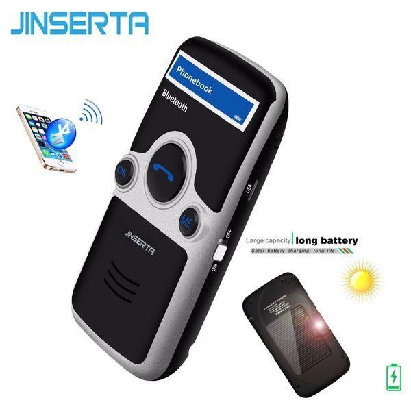 JINSERTA A6 Solar Bluetooth Freisprecheinrichtung FM Stereo Sender Multi Sprache LED Display Bluetooth Lautsprecher Freisprecheinrichtung