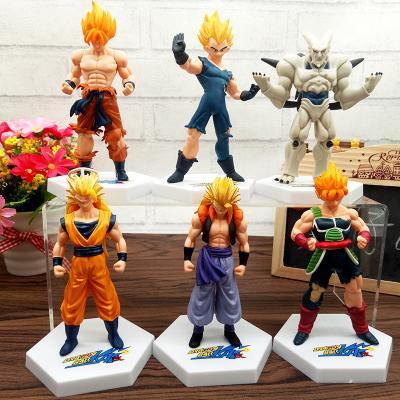 Anime Dragon Ball Z Super Saiyan Goku Vegeta Gotenks Buu Pvc Action Figure Toys 6Pcs /Set 12Cm Approx Free Shipping