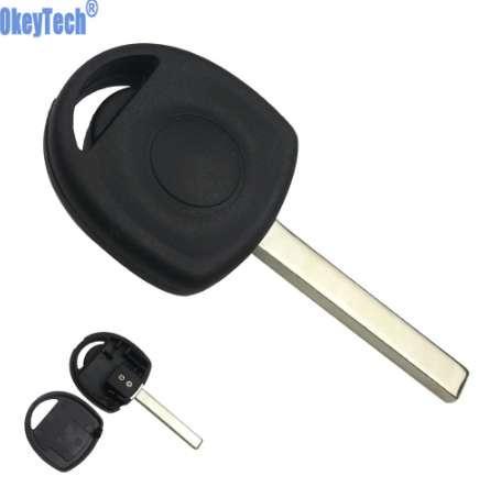 OkeyTech Car Transponder Key Case Shell Fob para Vauxhall Opel Key Uncut HU100 Blade Blank Replacement Auto Transponder Key Cover