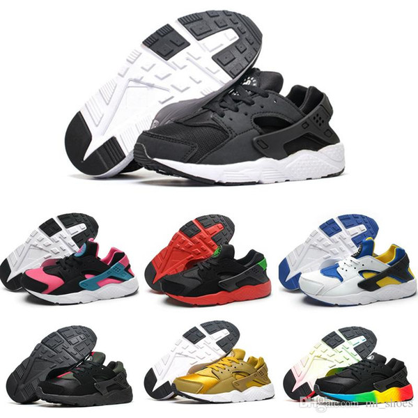 Baby Huarache V1 Running Shoes Children Athletic Shoes Kids Huaraches Sports Shoes Baby Boys Girls Training Sneaker Black White Red Blue