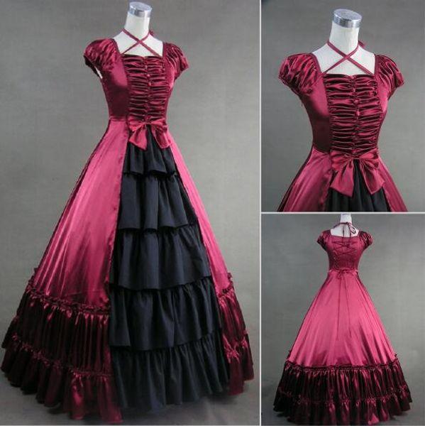 women Dresses Short Sleeveless New Design Victorian Gothic Dress Gothic Renaissance Costumes For Halloween