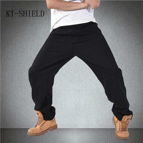 biker Ripped motorcycle hip hop jeans men Skateboard casual denim loose Harem pants Baggy man Trousers hombre calca masculina