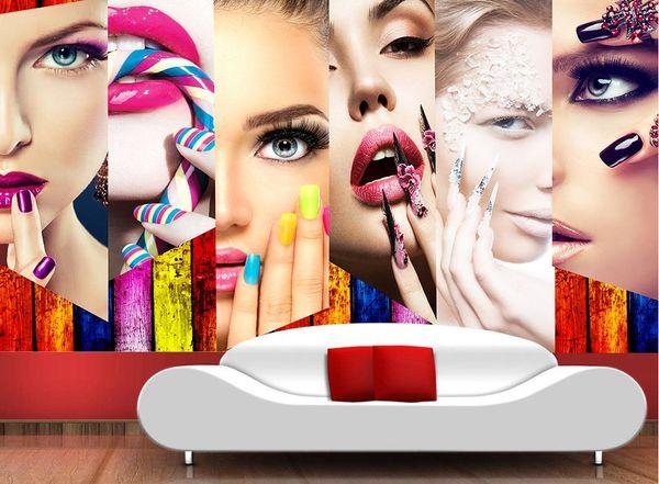 Custom 3d Photo Wallpaper Makeup Wallpaper For Walls 3 D Living Room Beauty Salon Sofa Tv Backdrop 3d Wallpaper Walls Hd Wide Wallpaper Hd Widescreen