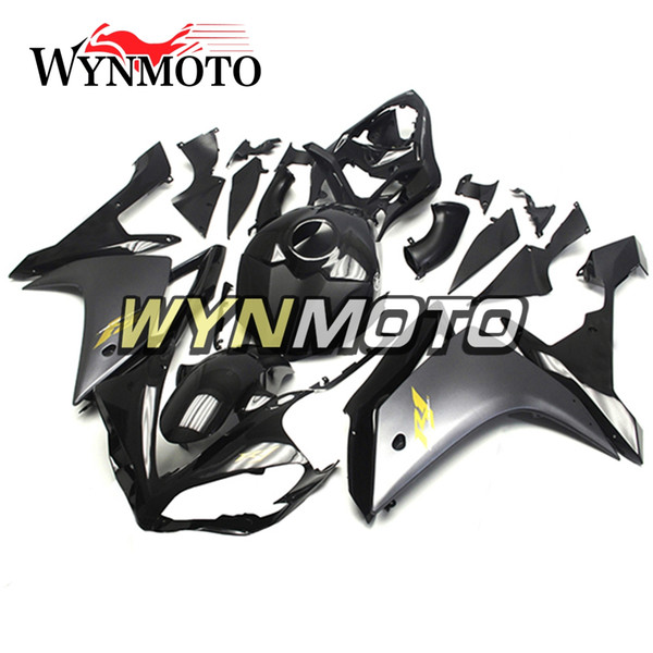 New ABS Motorcycle Full Fairings For Yamaha YZF1000 R1 YZF 1000 2007 2008 Bodywork ABS Injection Body Kits Flat Black With Gold Decals