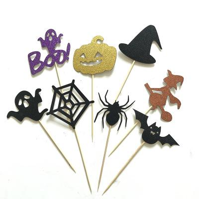 2018 All Saints Day Halloween Cupcake Toppers Birthday Cake Toppers Wedding Favors Party Gifts Halloween Decorations 260