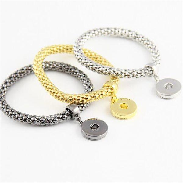 NOOSA Bracelets Chaîne Fasion Bijoux Tendance Bijoux Argent Plaqué Or Vente Chaude Bracelet Interchangeable Gingembre Snaps Bouton Charme