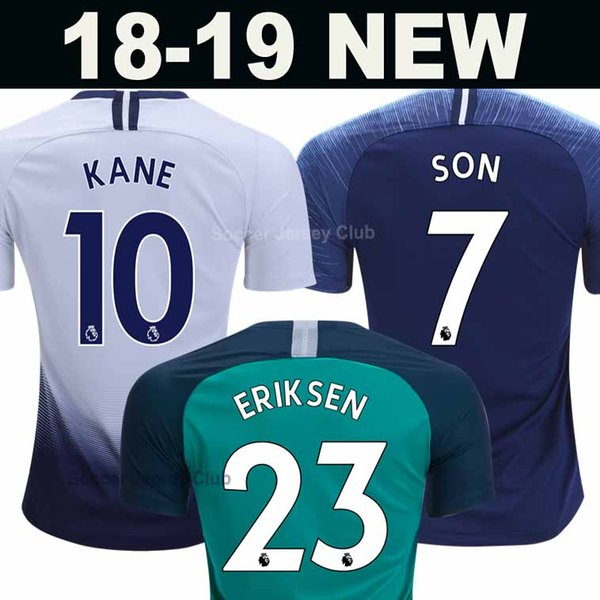 MENS SPURS HOME away third football shirt 2018 2019 KANE SON ERIKSEN LAMELA  DELE 18 19 soccer jersey top thailand quality camiseta de fútbol d09631dc1