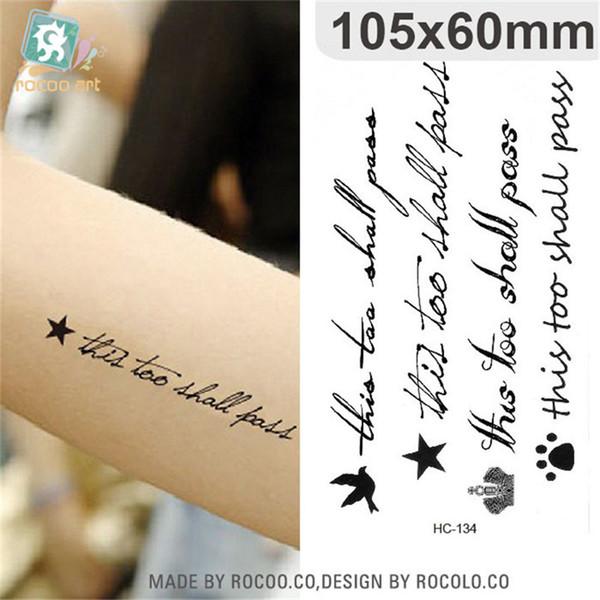 Body Art tatouages temporaires imperméables papier pour hommes femmes mode 3d anglais lettre conception flash autocollant de tatouage HC1134