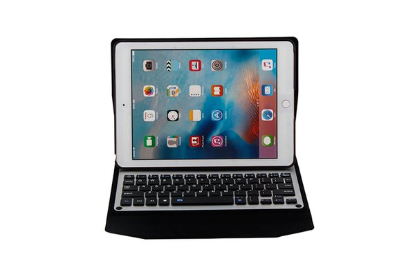 Aluminum Alloy Wireless Bluetooth Keyboard Cover PU Leather Case for iPad Pro 9.7 New iPad 9.7 2017 2018 Air 1038+Pen