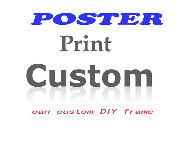 Custom Customized Poster and Print Wall Art Movie Canvas Picture for Living Room Fabric silk poster printing