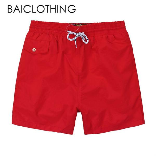 new Wholesale-Summer Men polo Short Pants Brand Clothing Swimwear Nylon Men Brand Beach Shorts Small horse Swim Wear Board Shorts 2018