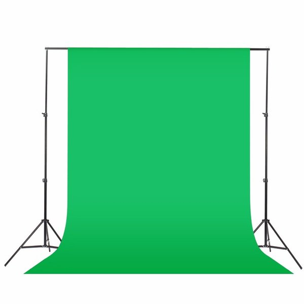 2x6meter Fotostudio Bildschirm-Chroma-Key-Hintergrund-Hintergrund-nicht gesponnenes Schwarz-Grün-Weiß Fotohintergrund für Fotostudio