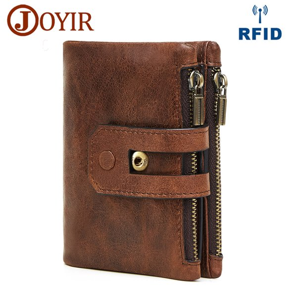 Wholesale Genuine Leather Men Wallet Small Men Walet Zipper&Hasp Male Portomonee Short Coin Purse Brand Perse Carteira For Rfid
