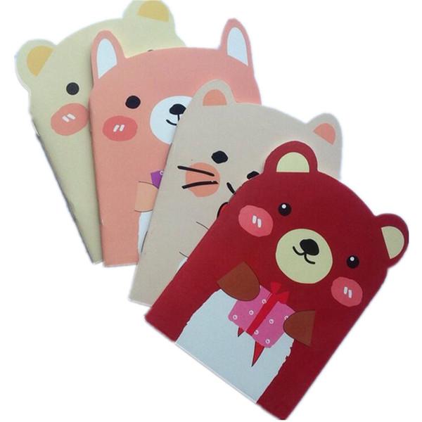 24pcs/lot cute mini A6 book bear & cat design Notstudents diy travel diary School Supplies