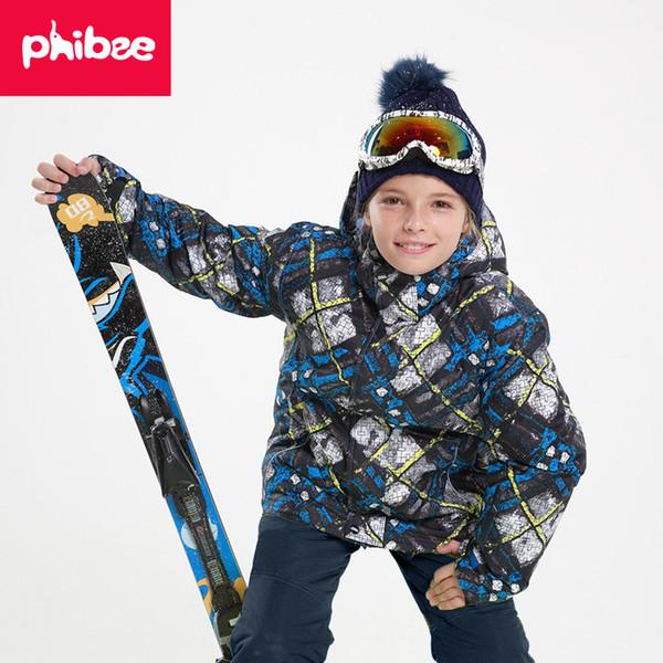 Kids Winter Blue Camouflage Snowsuit Children Outwear Jacket Pant Windproof Warterproof Boys Girls Snowboard Suit