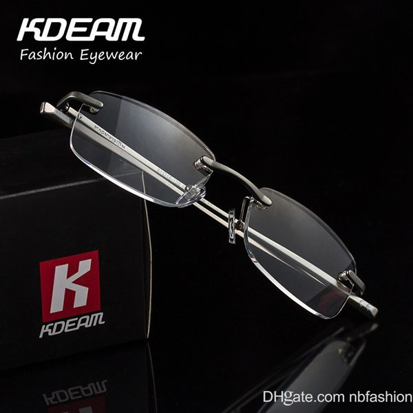 Aluminium Alloy Presbyopic Glasses High Quality The Elderly Glasses Nothing Frame High Clear Lens Read Mirror